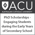 Two PhD Scholarships – Engaging Students during the Early Years of Secondary School: A Scalable and