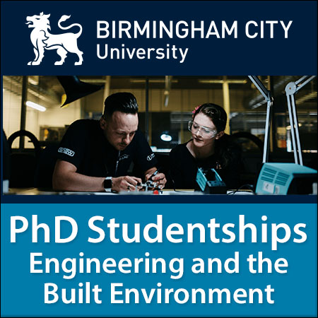 PhD Studentships in Engineering and the Built Environment