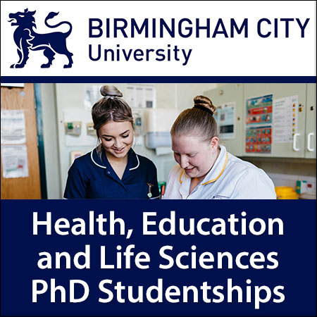Health, Education and Life Sciences PhD Studentships
