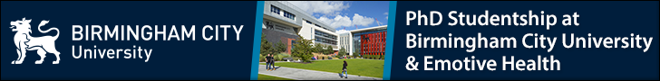 PhD Studentship at Birmingham City University & Emotive Health