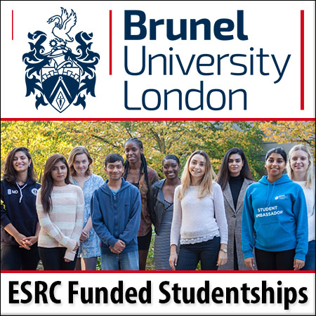 ESRC Funded Studentships in Health & Wellbeing at Brunel University London via the Grand Union Docto