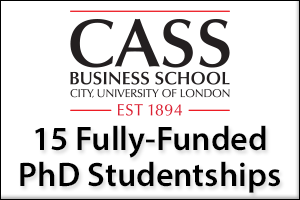 15 Fully-funded Doctoral Studentships