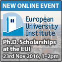 New online event: Ph.D. Scholarships at the EUI