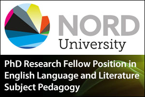 PhD Research Fellow Position in English Language and Literature Subject Pedagogy