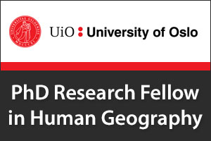 PhD Research Fellow in Human Geography