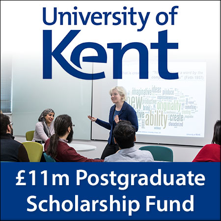 £11m postgraduate scholarship fund at the University of Kent