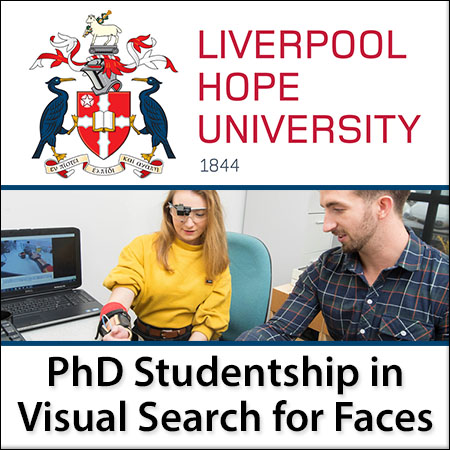 PHD STUDENTSHIP IN VISUAL SEARCH FOR FACES
