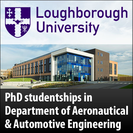 PhD studentships in Department of Aeronautical and Automotive Engineering