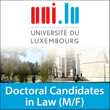 Doctoral Candidates (PhD Students) in Law (M/F)
