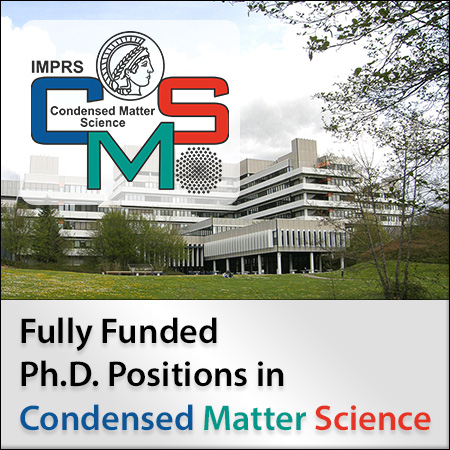 Fully Funded Ph.D. Positions in Condensed Matter Science