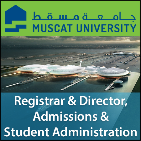 Registrar and Director, Admissions and Student Administration