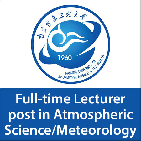 Full-time Lecturer post in Atmospheric Science/Meteorology