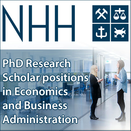 PhD Research Scholar positions in Economics and Business Administration