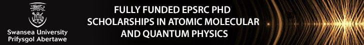 Fully Funded EPSRC PhD Scholarships in Atomic Molecular and Quantum Physics (AMQP)