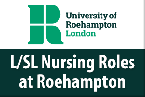 L/SL Nursing roles at Roehampton