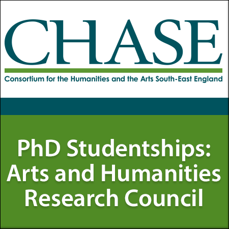 CHASE is delighted to offer up to 56 Arts and Humanities Research Council Studentships for October 2