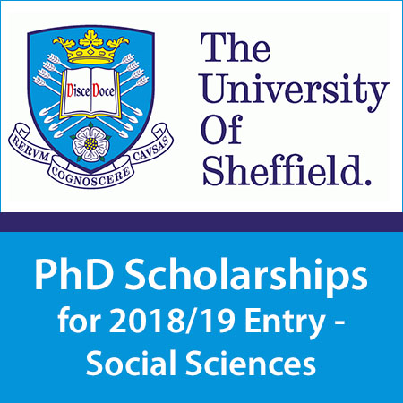 PhD Scholarships for 2018/19 Entry - Social Sciences