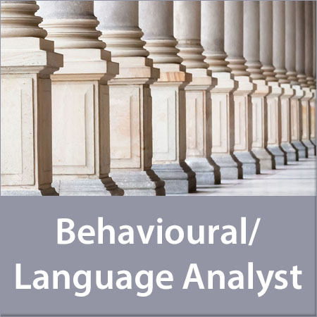 Behavioural/Language Analyst