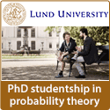PhD studentship in probability theory