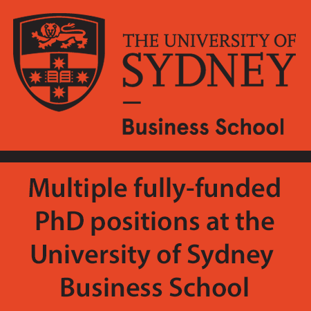 Multiple fully-funded PhD positions at the University of Sydney Business School