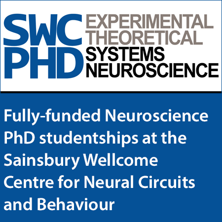 Fully-funded Neuroscience PhD studentships at the Sainsbury Wellcome Centre for Neural Circuits and