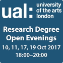 UAL PHD Open Evenings 2017