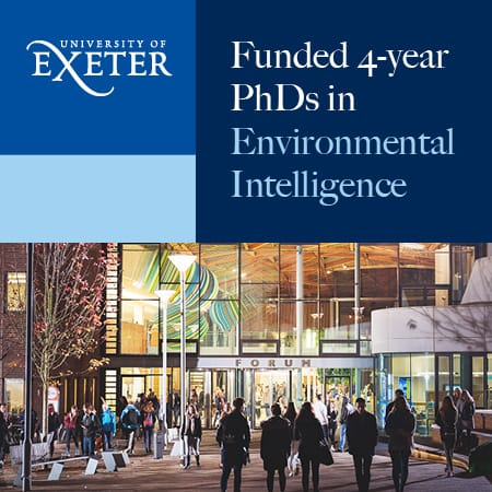 Fully funded 4-year PhDs in Environmental Intelligence