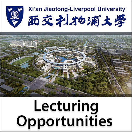 Vacancies at Xi'an Jiaotong - Liverpool University