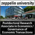 Postdoctoral Research Associate in Economics / Governance of Economic Transactions