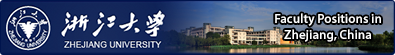 Faculty positions at Zhejiang University