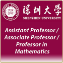 Assistant Professor / Associate Professor / Professor in Mathematics
