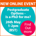 Postgraduate Options - Is a PhD for you?