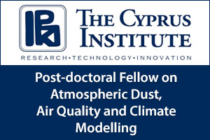 Post-doctoral Fellow on Atmospheric Dust, Air Quality and Climate Modelling