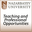 Teaching and Professional roles - Nazarbayev University