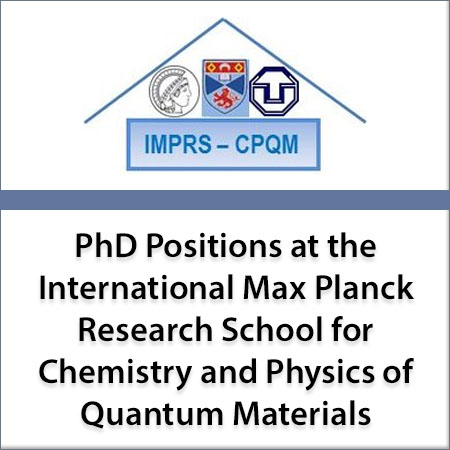 PhD positions at the International Max Planck Research School for Chemistry and Physics of Quantum M