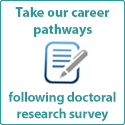 Take our post-PhD career pathways survey!
