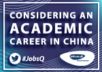 #JobsQ Live Q&A: Considering an Academic Career in China