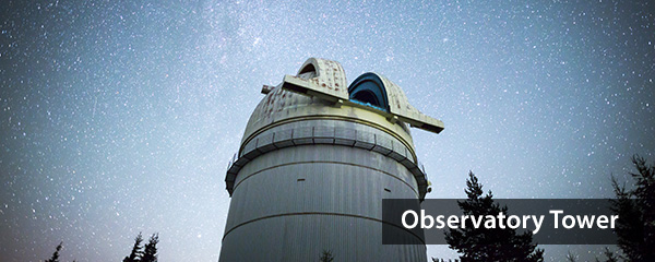 Image of Astronomical Observatory under the night sky stars