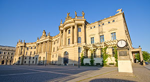 The German Research Landscape - An image of the old university building in Berlin, Germany