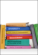 Business jobs - stack of business books