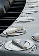 Retail jobs - place settings on a conference table