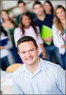 Sociology jobs - lecturer smiling in front of class